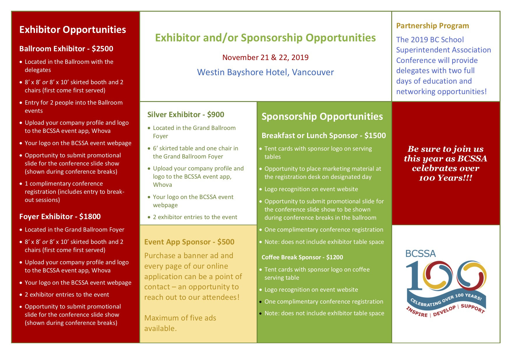 Exhibitor Sponsorship Brochurepage2